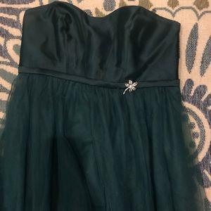 Oleg Cassini Bridesmaid Dress- Hunter Green Sz 16